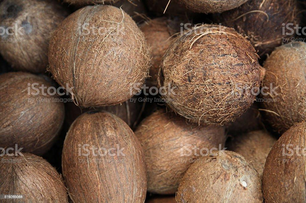 Haufen von Kokosnüsse – Foto