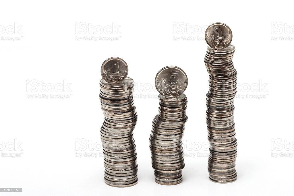Tas de pièces de monnaie photo libre de droits