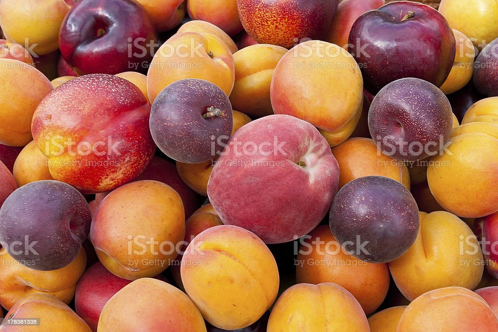 Pile of colorful fruits. royalty-free stock photo