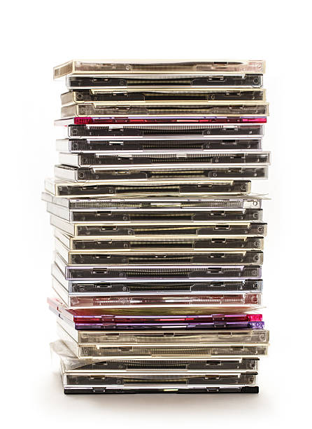 Pile of compact disks stock photo