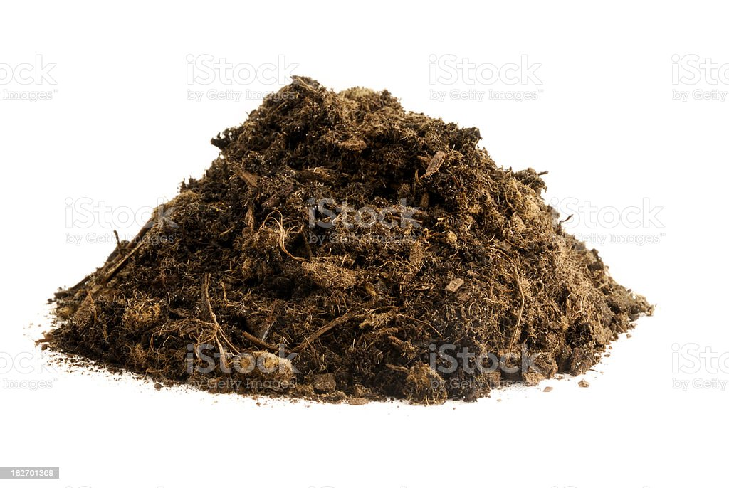 Pile of Compost royalty-free stock photo