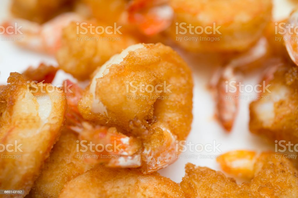pile of cooked shrimp stock photo