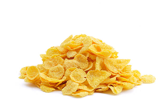 pila de cornflakes - corn flakes fotografías e imágenes de stock
