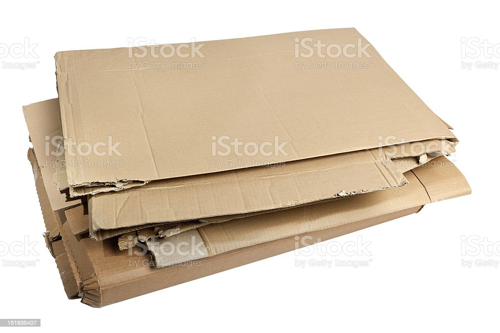 Pile of corrugated cardboard stock photo