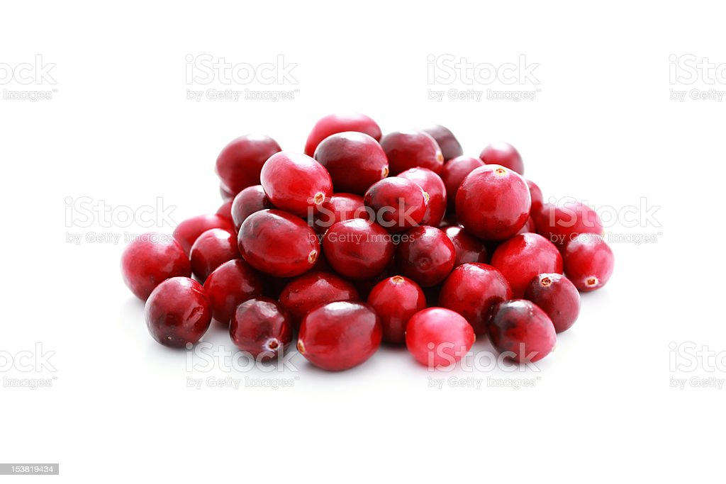 pile of cranberries stock photo