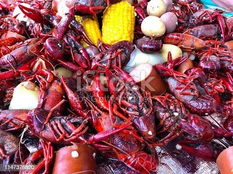 Pile of crayfish