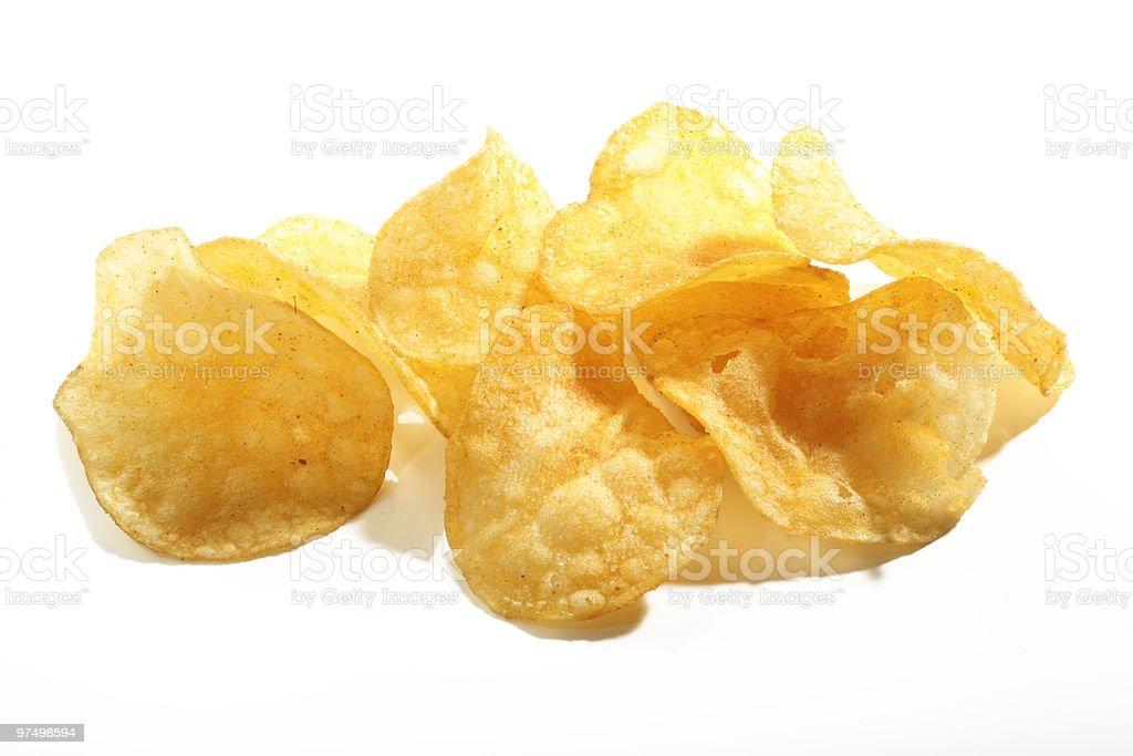 pile of crisps royalty-free stock photo