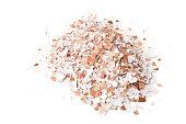 Pile of crushed eggshells