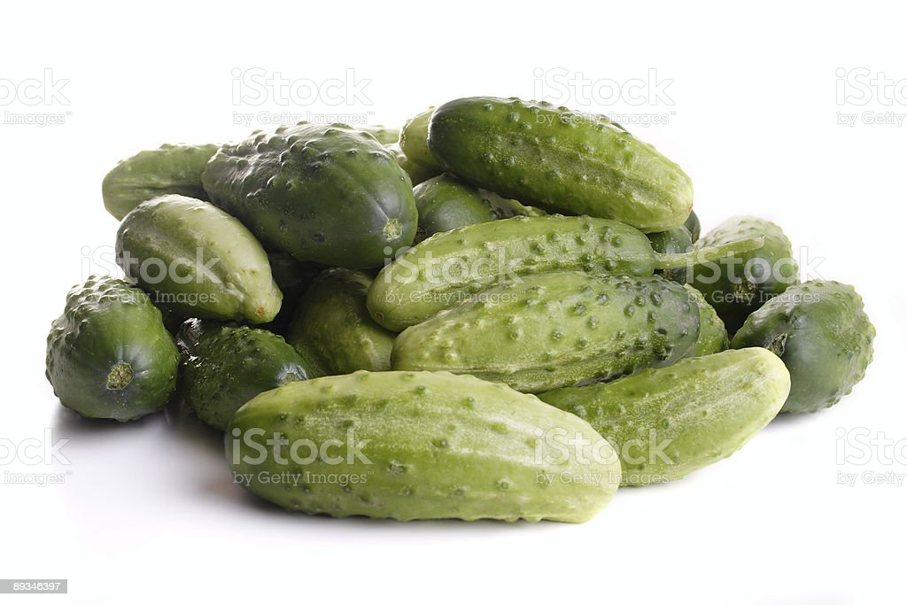 Pile of cucumbers royalty-free stock photo