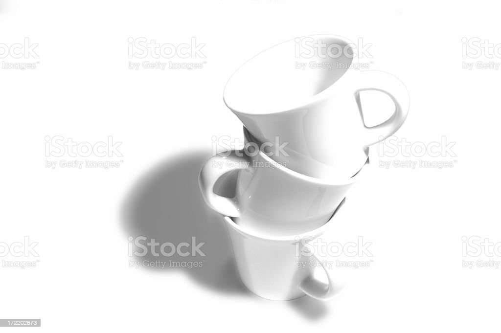 pile of cups royalty-free stock photo
