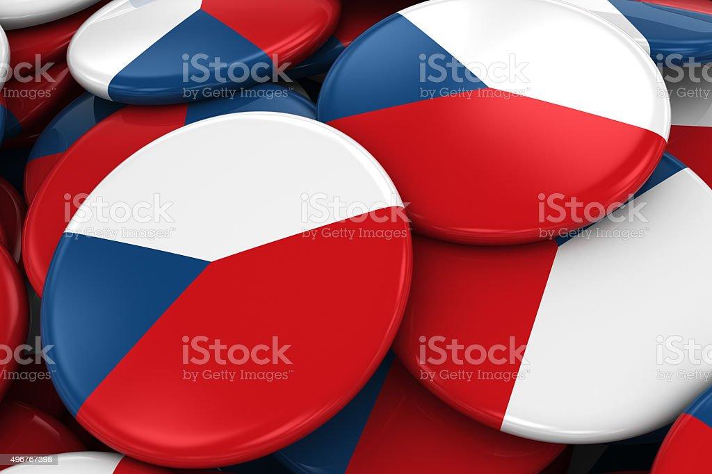 Pila de bandera checa tarjetas - foto de stock