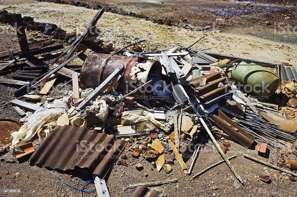 Pile of debris royalty-free stock photo