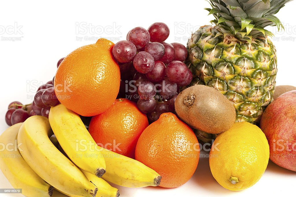 Pile of delicious tropical fruits royalty-free stock photo