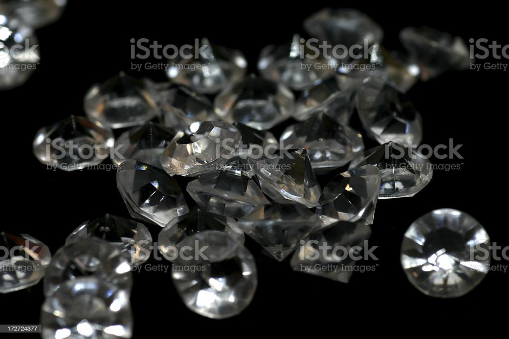 Pile of diamonds royalty-free stock photo