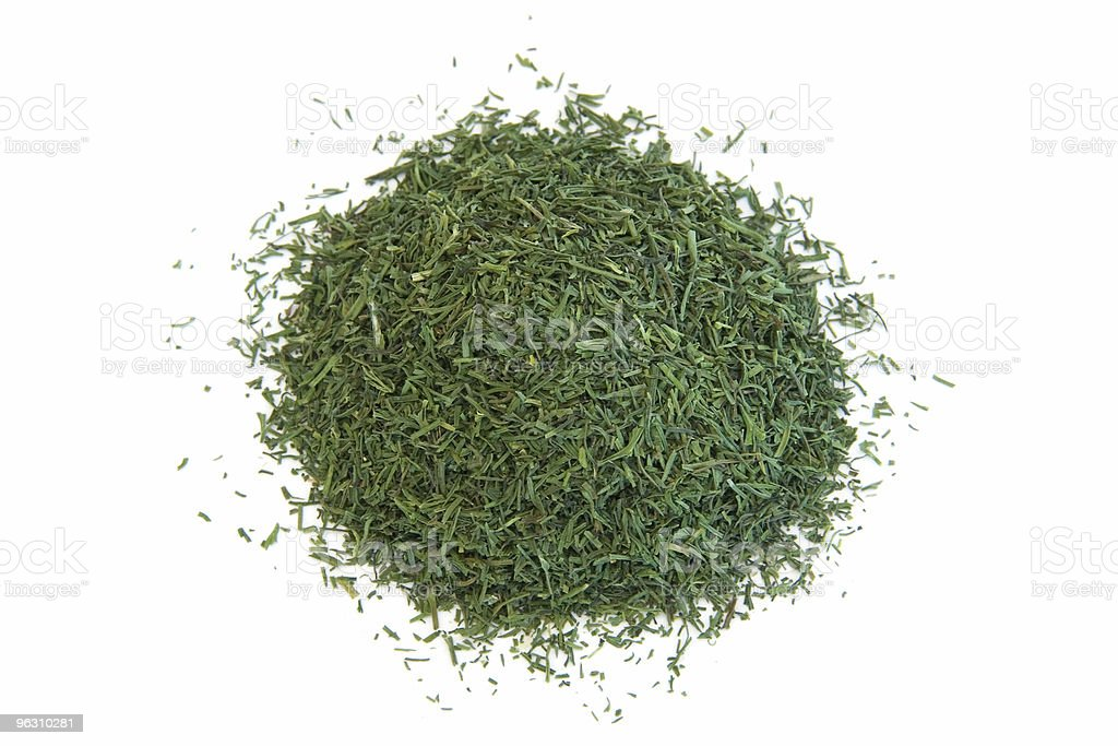 Pile of dill weed on white royalty-free stock photo
