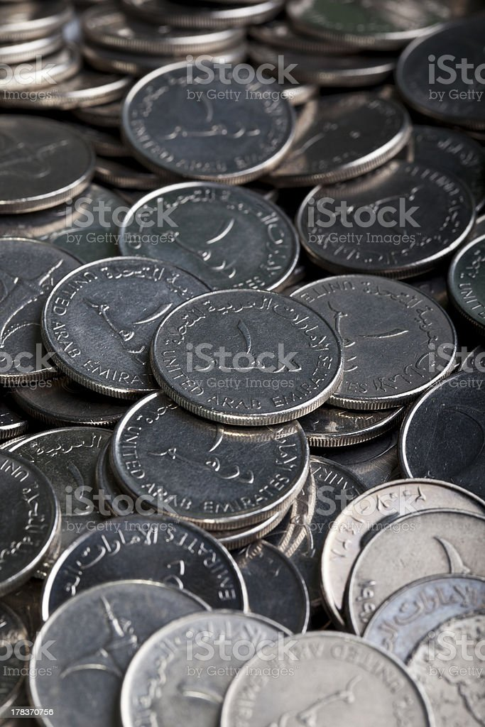 Pile of Dirham Coins royalty-free stock photo