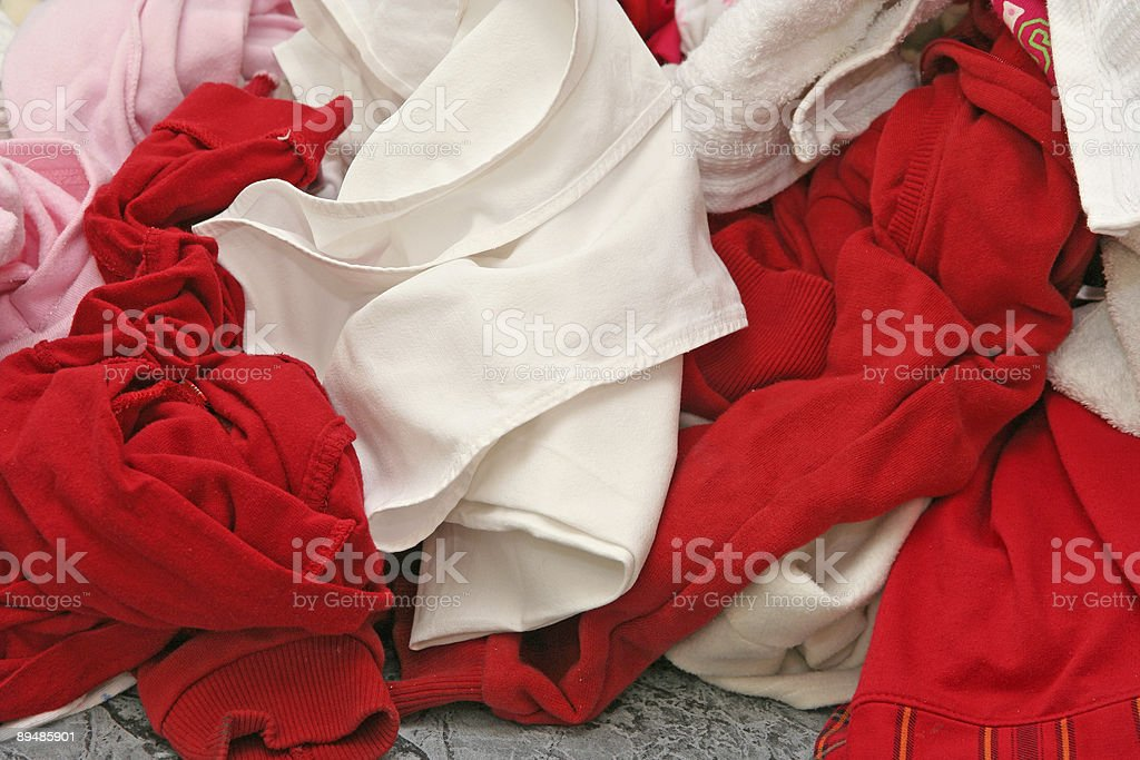 Pile of Dirty Clothes stock photo