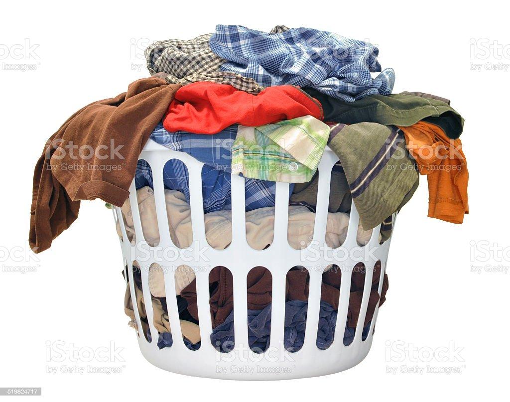 haufen von schmutzige w sche in die waschmaschine korb stock fotografie und mehr bilder von. Black Bedroom Furniture Sets. Home Design Ideas