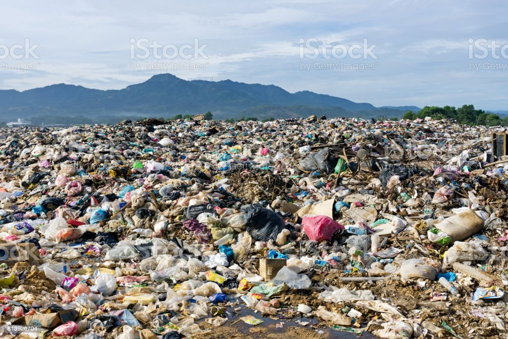 Pile Of Domestic Garbage In Landfill Dump Site Stock Photo More