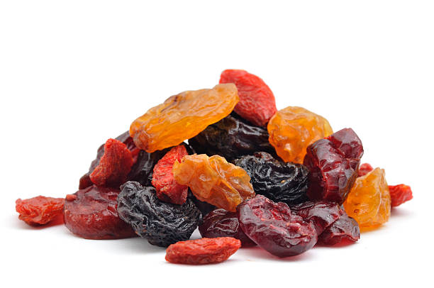 pile of dried berries. - dried fruit stock photos and pictures