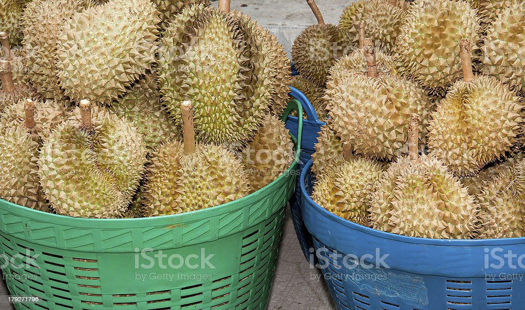 pile of durian royalty-free stock photo