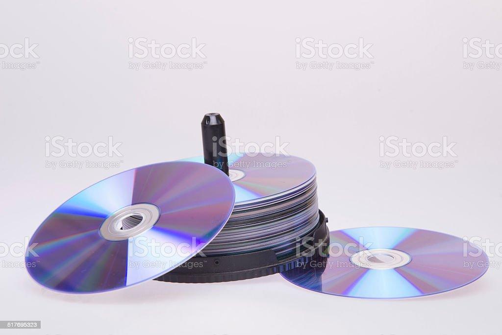 pile of dvd stock photo