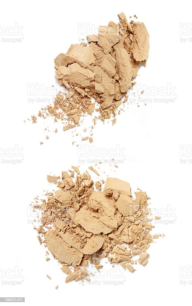 Pile of face powder royalty-free stock photo