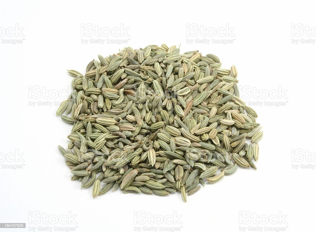 Pile of Fennel Seed royalty-free stock photo