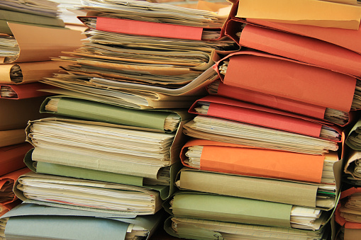 Pile Of Files Stock Photo - Download Image Now