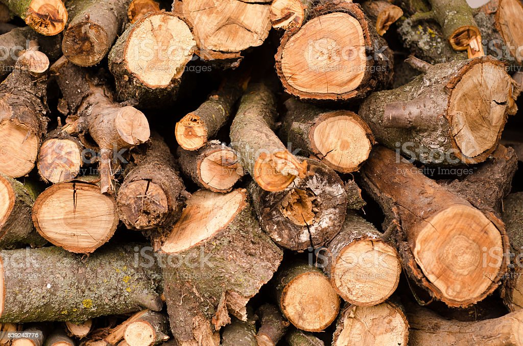 Pile of firewood. Preparation for the winter. Background royalty-free stock photo
