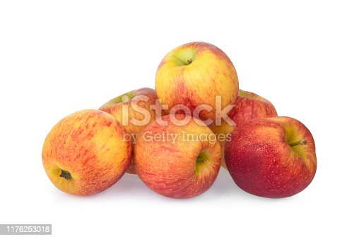pile of gala apple isolated on white background