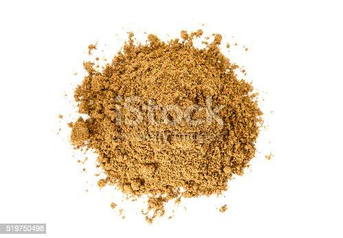 Pile of Garam Masala on white background. Indian spice mix