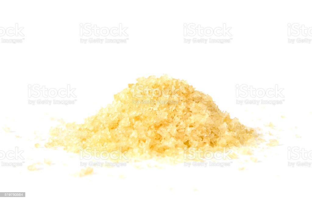 Pile of gelatin granules stock photo