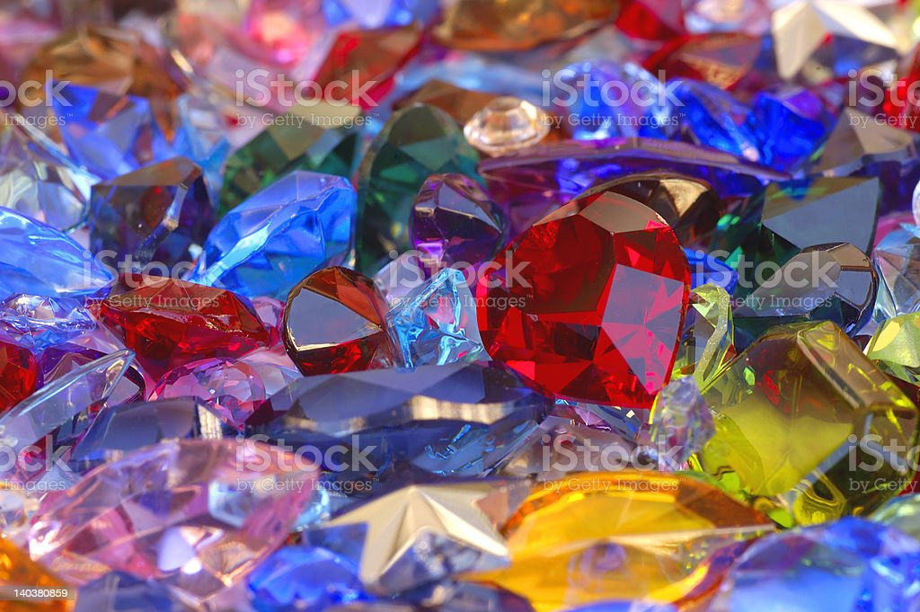 Pile of gems royalty-free stock photo