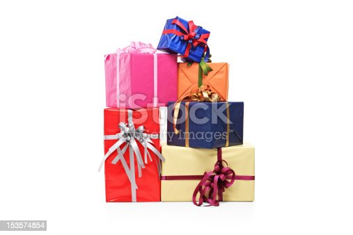 istock Pile of gift boxes in various sizes and colors 153574854
