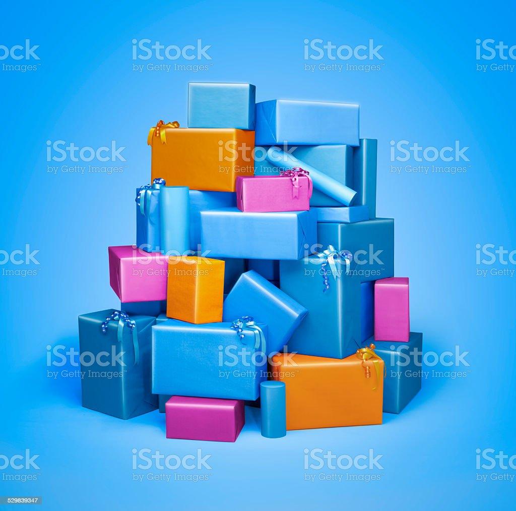Haufen von Geschenk-Boxen – Foto