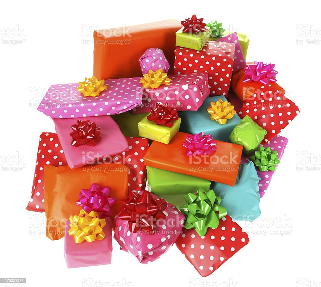 Pile of Gifts royalty-free stock photo