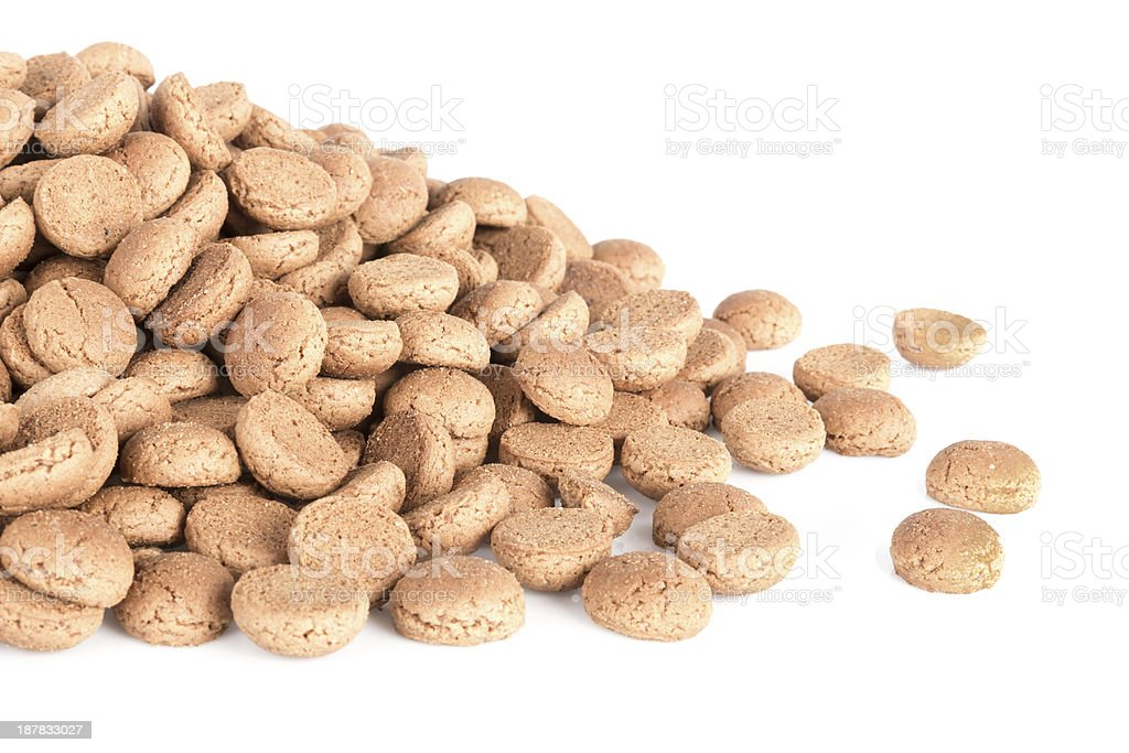 Pile of ginger nuts. Typical Dutch candy for Sinterklaas event stock photo