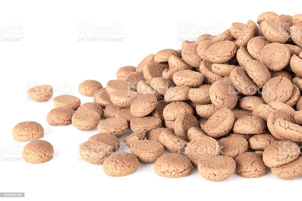 Pile of ginger nuts. Typical Dutch candy  in december stock photo
