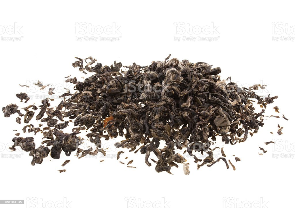 Pile of green tea stock photo