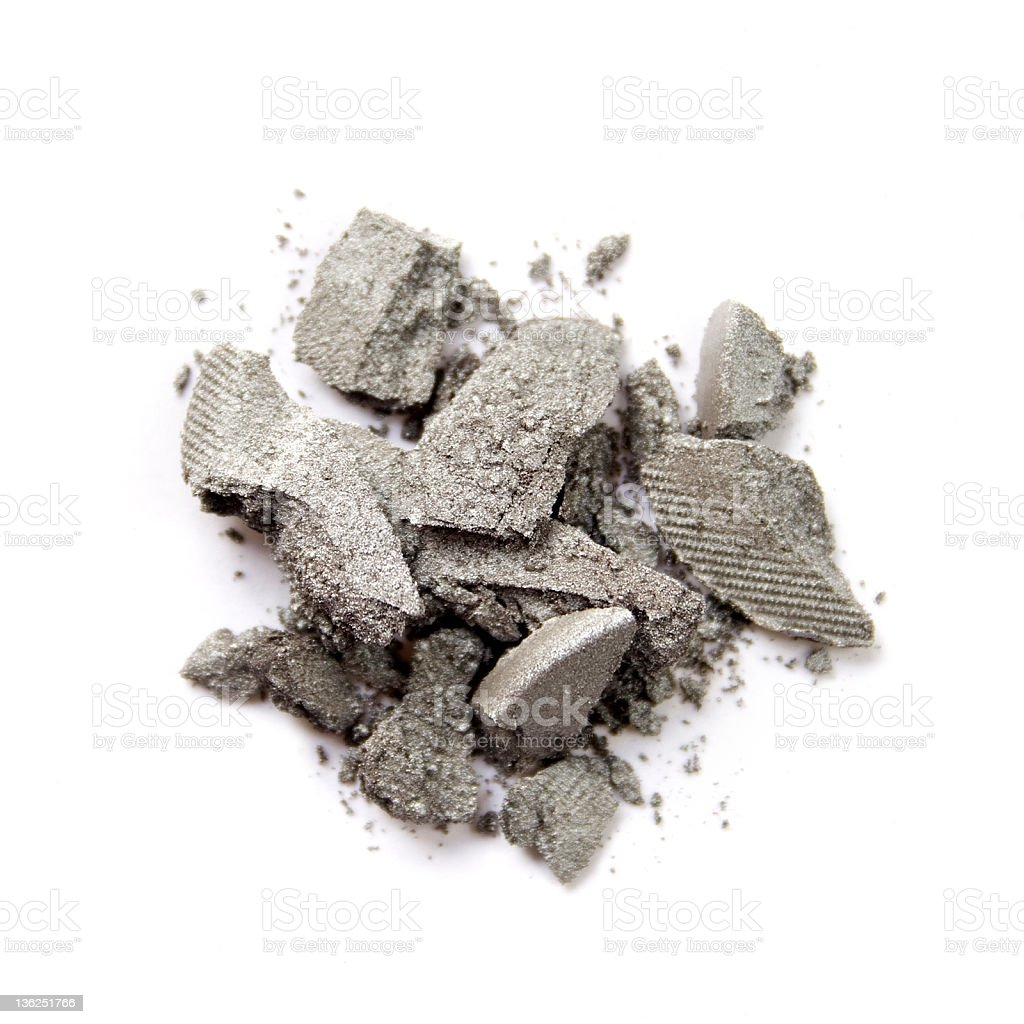 Pile of grey eye shadow royalty-free stock photo
