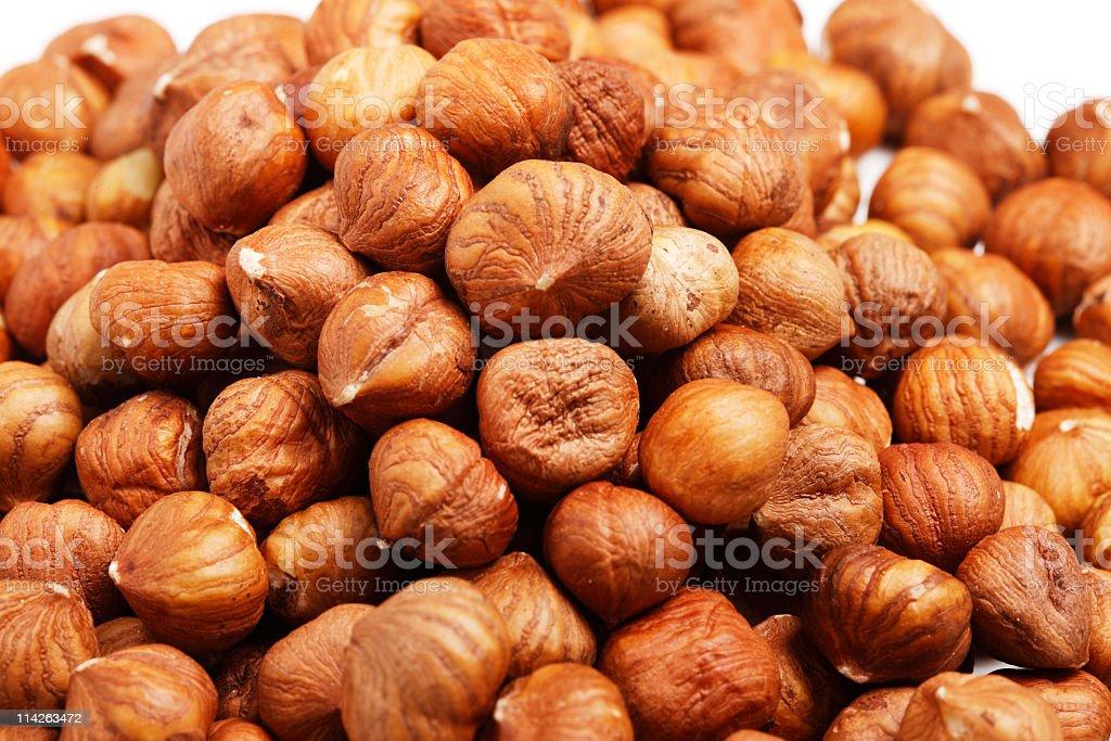 Pile of Hazelnuts royalty-free stock photo