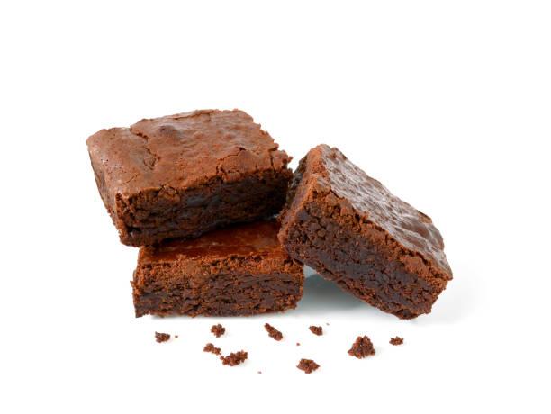 pile of homemade brownies with crumbs - bolo de bolacha imagens e fotografias de stock