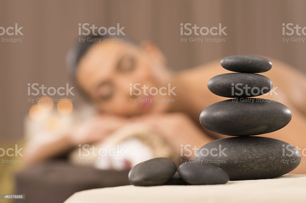 Pile Of Hot Stones stock photo