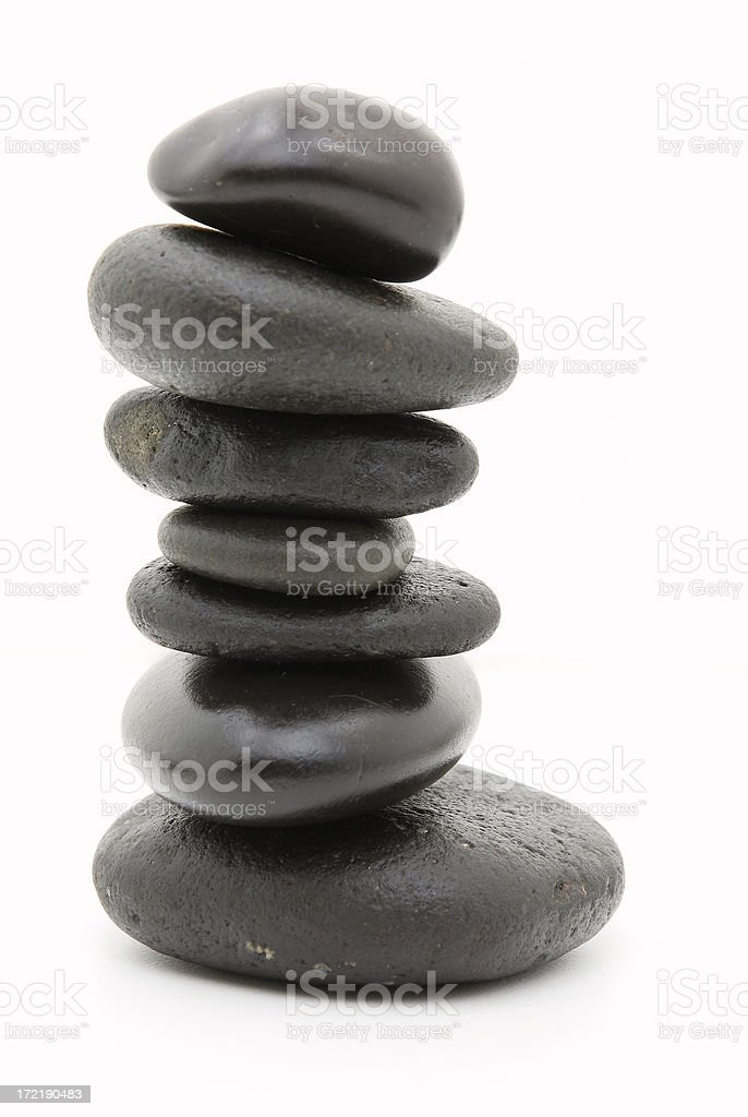 Pile of Hot Stones two royalty-free stock photo