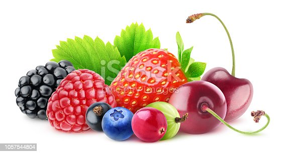 827935944 istock photo Pile of isolated berries 1057544804