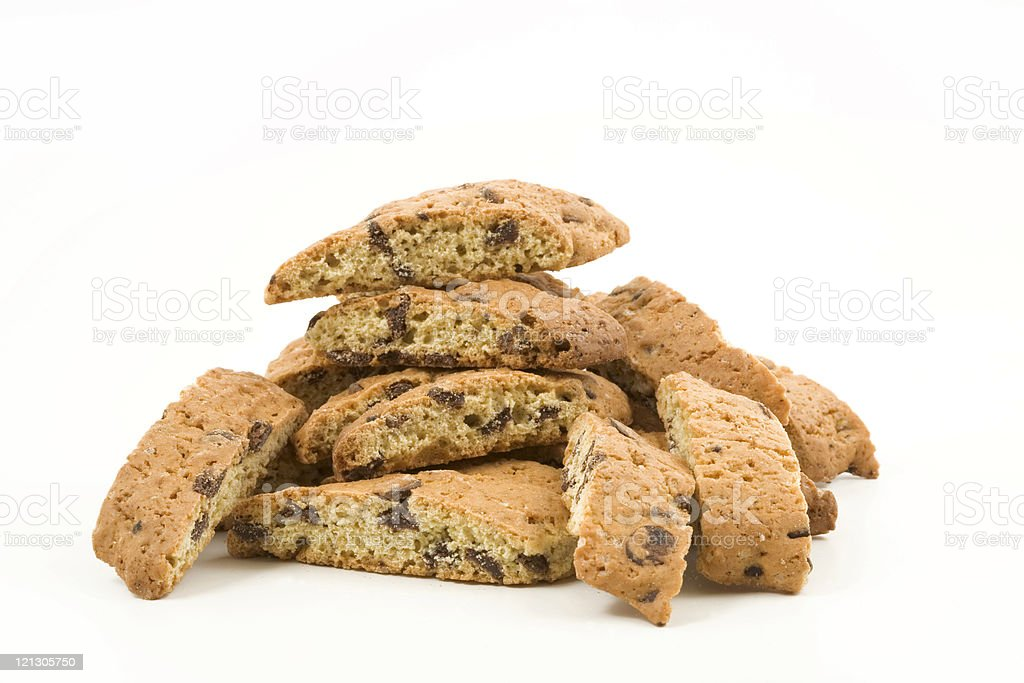 pile of italian biscotti stock photo