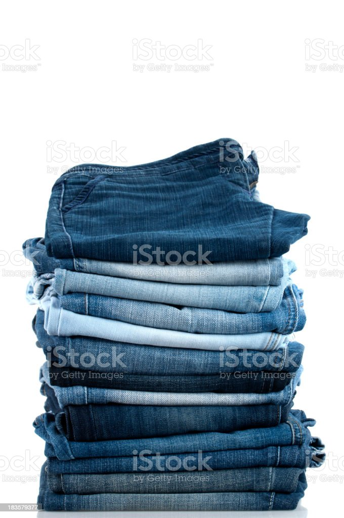 Pile of Jeans stock photo