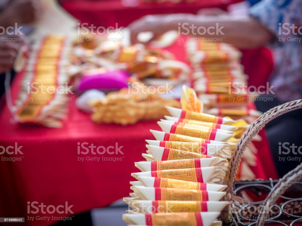 Pile of Joss Paper / Gold Paper stock photo