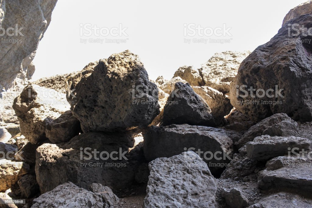 Pile of large stones. royalty-free stock photo